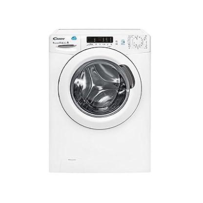 Candy-CSW-485d-s-autonome-Belastung-Bevor-A-wei-Waschmaschine-mit-Wschetrockner-Waschmaschinen-mit-Wsche-Belastung-vor-autonome-wei-links-Knpfe-drehbar-Edelstahl