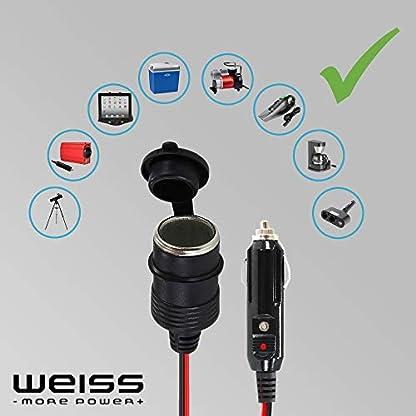 12V-Verlngerungskabel-3-Meter-KFZ-Zigarettenanznder-Auto-Zigarettenanznderbuchse-Steckdose-16AWG-15A-12V-24V-von-Weiss-More-Power