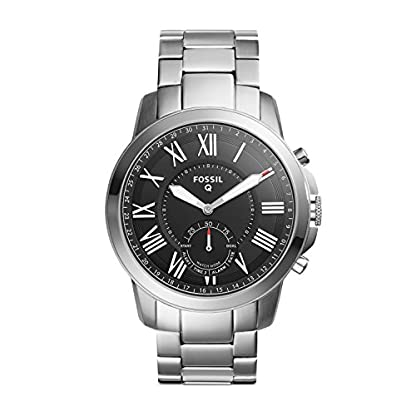 Fossil-Herren-Analog-Quarz-Uhr-mit-Edelstahl-Armband-FTW1158