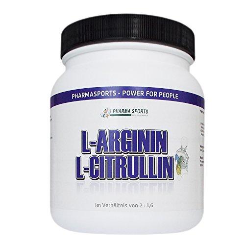 Arginin + Citrullin Pulver 2 : 1,6 – 500 g Pulver (Wie 1000 Kapseln a 500mg von der Menge)