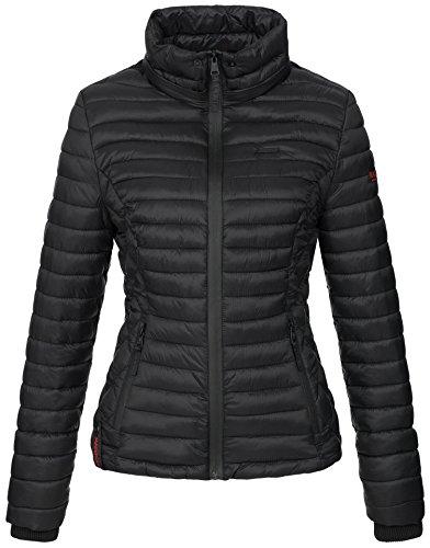 Marikoo Damen Jacke Steppjacke Übergangsjacke mit Kapuze gesteppt B600