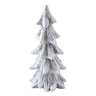 Schne-Keramik-Tanne-grau-wei-beschneit-30-cm-Baum-Tannenbaum-Winter-Dekoration