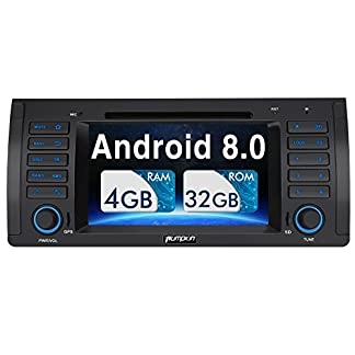 Pumpkin-Android-80-Autoradio-Moniceiver-fr-BMW-3er-E46-mit-GPS-Navi-Untersttzt-Bluetooth-DAB-WLAN-4G-Android-Auto-USB-MicroSD-CD-DVD-1-Din-7-Zoll-Bildschirm