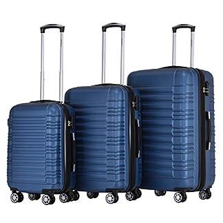 BEIBYE-Hartschalen-Koffer-Trolley-Rollkoffer-Reisekoffer-Zwillingsrollen-Kofferset