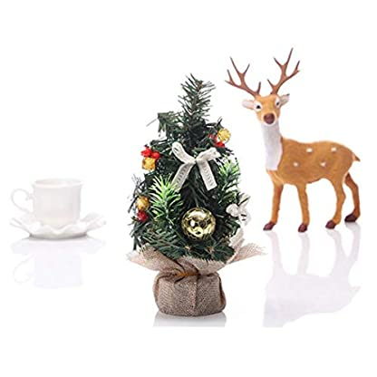 Kacniohen-Knstliche-Mini-Weihnachtsbaum-Tabletop-Bume-Ornamente-Fr-Party-Hauptdekoration-Brown-Tuch-Golden-Tree