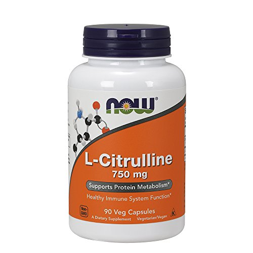 Now Foods, L-Citrulline, 750 mg, 90 Capsules