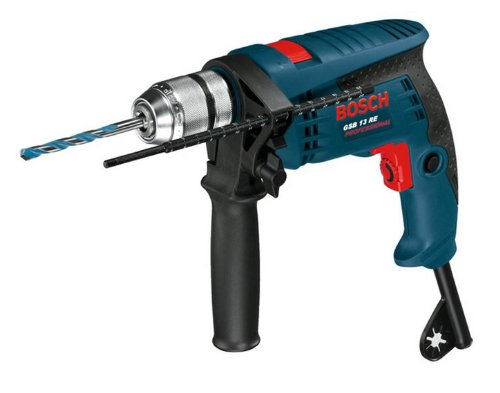 Bosch-Professional-601217103-Schlagbohrmaschine-0-601-217-103-GSB-13-RE-mit-Koffer-und-Bohrer-Satz-301-W-230-V