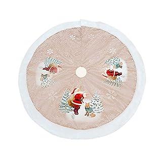 Milopon-Weihnachtsbaum-Decke-Weihnachtsbaumdecke-Christbaumstnder-Baumdecke-Weihnachts-Dekorationen-Weihnachtsbaum-Abdeckung-Runde-Christbaumdecke-fr-Weihnachtenbaum-98cm