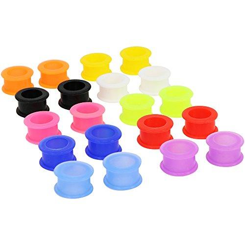 Selldorado® Super Flexibles & Elastisches 20er FLESHTUNNEL Set In Verschiedenen Farben Sowie Größen | Bestens Geeignet Für Den Alltäglichen Gebrauch
