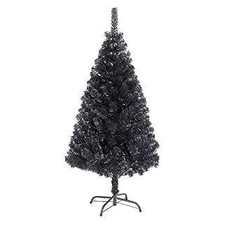 Shatchi-Knstlicher-Baum-mit-Metallstnder-230-Spitzen-122-cm-Schwarz