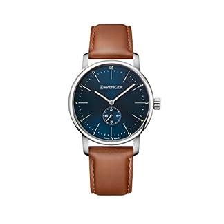Wenger-Herren-Analog-Quarz-Uhr-mit-Leder-Armband-011741103