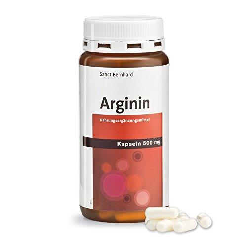 Arginin-Kapseln 500 mg reines Arginin 150 Kapseln