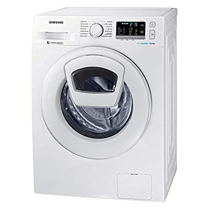 Samsung–Waschmaschine-freistehend-Frontladung-wei-Knpfe-rotierend-links-LED