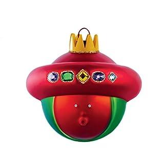 Alessi-Baldassarre-Weihnachtsbaumkugel-aus-mundgeblasenem-Glas-Handdekoriert-1er-Pack-1-x-1-Stck