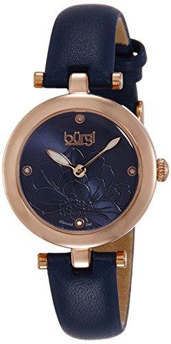 Burgi-Armbanduhr-Artist-Pure-Essence-Diamond-fr-Damen-mit-Lederarmband