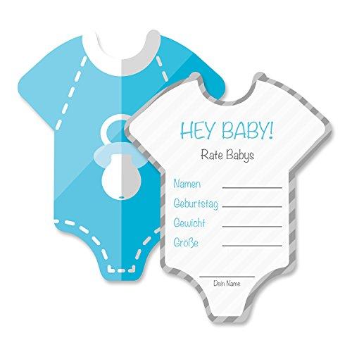 Renovo Farben Homepage Test März 2019: Babyparty Baby Shower Spiel-Set 8 Stück Babybody In