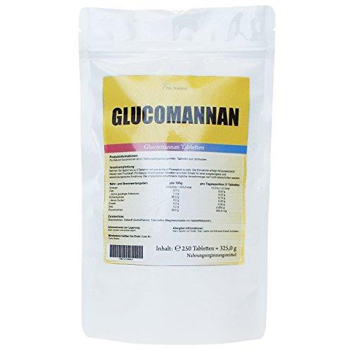 Glucomannan – 250 Tabletten – 3000mg – Sättigungskapseln – Konjac Wurzel – Trägt im Rahmen einer kalorienarmen Ernährung (Diät) zu Gewichtsverlust bei.
