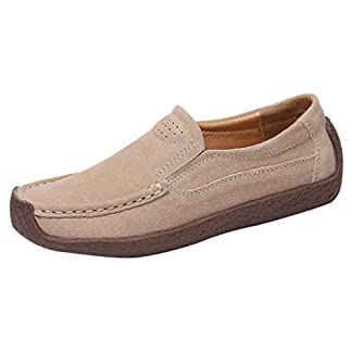 B-commerce-Frauen-Frhling-Sommer-Einfarbig-Flache-Schuhe-Erbsen-Schuhe-Einzelne-Schuhe-Miggnger-Lssige-Schuhe-Arbeitsschuhe-Wanderschuhe