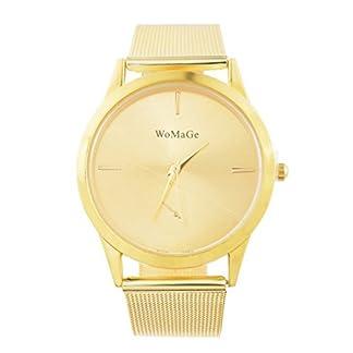Souarts-Damen-Armbanduhr-Einfach-Mesh-Metallarmband-Casual-Analoge-Quarz-Uhr