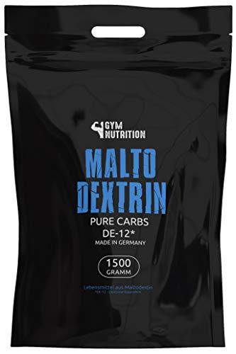 GYM-NUTRITION® — Hardcore Malto-dextrin | Feines Kohlenhydrate Pulver | Beliebt bei Fitness Powerlifing & Bodybuilding | Ideal für Hardgainer | Made in Germany | Maltodextrin 12 | 1,5 kg Beutel