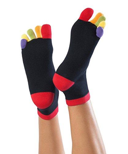 Knitido Rainbows | Kurze Zehensocken mit bunten Zehen, aus 95% Baumwolle, für Damen und Herren