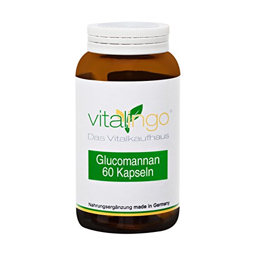 Glucomannan Kapseln von vitalingo – 60 Glucomannan Kapseln a 620mg (Konjakmehl (95% Glucomannan))