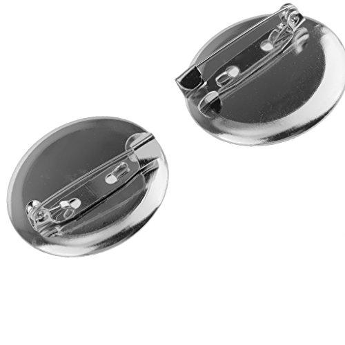 95pcs Silber Brosche Basis Rohlinge Tabletts Unterstützt Stifte DIY Entdeckungen 2 Cm Einstellen