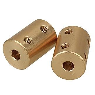 cnbtr-2-Stck-Golden-d16l22-Motor-Schaft-starr-messing-Sleeve-Kupplung-Anschluss-die-Schrauben