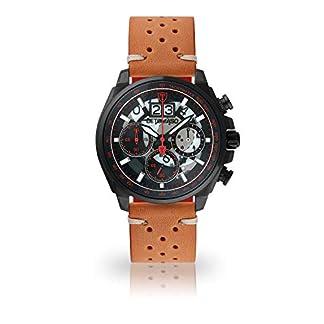 DETOMASO-LIVELLO-Herren-Armbanduhr-Chronograph-Analog-Quarz-schwarzes-Edelstahl-Gehuse-schwarzes-Zifferblatt-Jetzt-mit-5-Jahre-Herstellergarantie