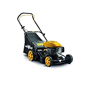 Mowox-PM-4135-P-handbetriebener-Benzinrasenmher-min-16-kW2800-rpm-41-cm-50l-Grasfangsack-kugelgelagerte-Rder