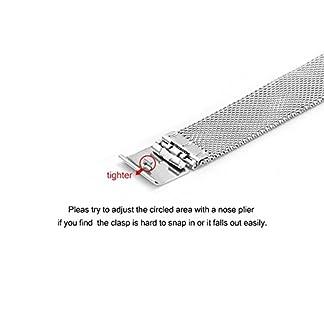 BEWISH-Uhrenarmbnder-Maschendraht-Edelstahl-Milanese-Ersatzband-Metall-Uhrarmband-Faltschliee-Uhr-Band-Schnalle-Wechselarmband-Uhr-Armband-Smart-Watch-Wrist-Strap-Band-Replacement-Uhrmacherwerkzeug