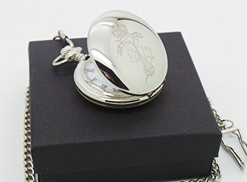 Reme-Full-Hunter-Taschenuhr-Royal-und-elektrische-und-mechanische-Ingenieure-versilbert-Maurer-von-London-Taschenuhr-in-Geschenkbox