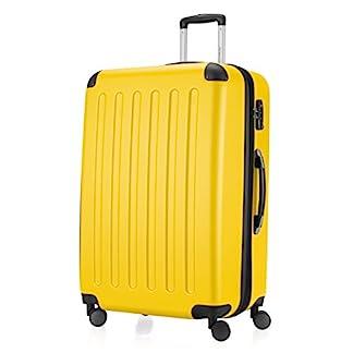 HAUPTSTADTKOFFER-Koffer-Spree-Trolley-Gepck-Hartschale-75-cm-128-Liter-matt-Gelb