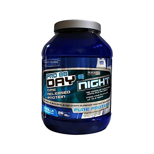 First-Class Nutrition PRO88 Day und Night Protein Vanilla -8 Stunden mit langsamer Freisetzung, hochwertiges eiweiss, 1er Pack (1 x 2 kg)