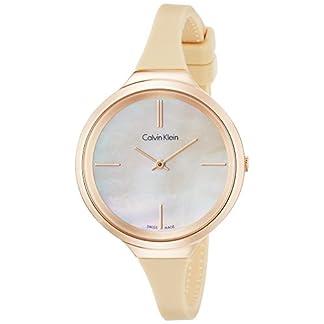 Calvin-Klein-Damen-Analog-Quarz-Smart-Watch-Armbanduhr-mit-Silikon-Armband-K4U236XE