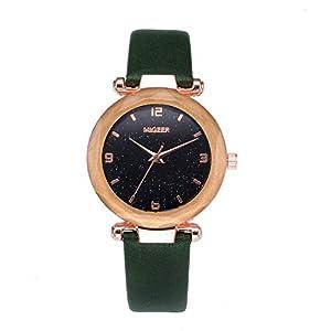 UINGKID-Damen-Armbanduhr-Analog-Quarz-Mode-Convex-Glas-Leder-Uhren-Hochwertige-Uhr-Armbanduhr