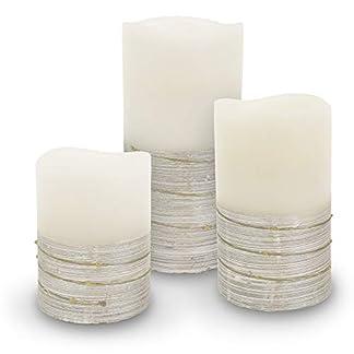 3er-Set-LED-Wachskerze-Echtwachs-creme-weiss-silber-gro-mittel-klein-kabellos