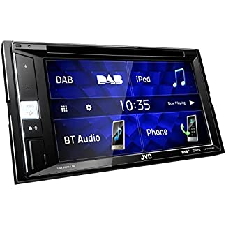 JVC-KW-V255DBT-DAB-Multimedia-Autoradio-mit-157-cm-Touchscreen-2-DIN-DVD-Bluetooth-Freisprecheinrichtung-Soundprozessor-USB-Android-Spotify-Control-Schwarz