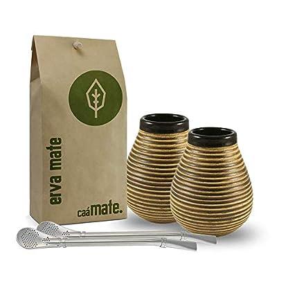 camate-Mate-Tee-Set-fr-Zwei-2X-Keramik2X-Bombilla-Bio-Matetee-500g