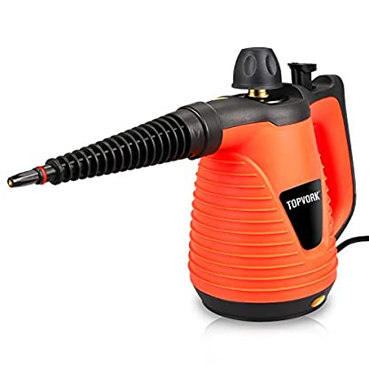 TOPVORK-Dampfreiniger-1050W-Leistungsstarker-Multifunktions-Handdampfreiniger-mit-9-Zubehrteilen-Geeignet-fr-Zuhause-und-Bro-250ML-Orange