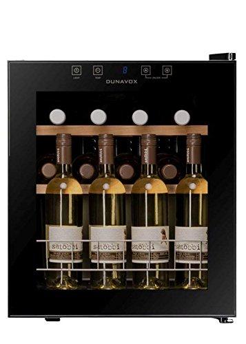 DUNAVOX-DX-1646K-Weinkhlschrank-1-Khlzone-bis-16-Flaschen-Innenbeleuchtung-Touch-Bedienfeld-Kompressorkhlung