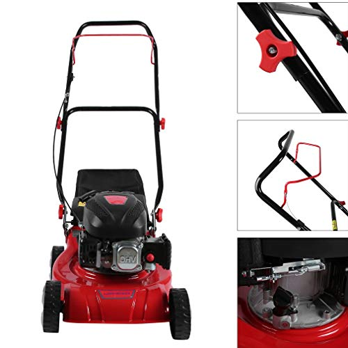 Sweepid-Benzin-Rasenmher-mit-Rantrieb-Motormher-16-Inch-94ccm-16KW-406cm-Mulchkit