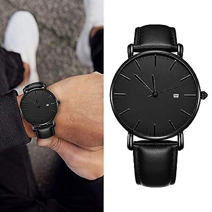 Souarts-Armbanduhr-Herren-Analog-Bussiness-Slim-Armband-Quarzuhren