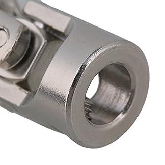 cnbtr-6-x-6-mm-Silber-Modell-Boot-Auto-Schaft-Kupplung-Motor-Stecker-Universal-Gelenk-Kupplung-2-Stck