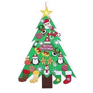 Amosfun-Weihnachten-Filz-Baum-DIY-Weihnachtsbaum-mit-32PCS-Ornamente-Wand-Tr-Dekor-fr-Kinder-Lieferungen-Weihnachten-hngende-Dekoration