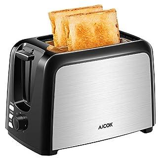 Aicok-Toaster-Toaster-2-Edelstahl-Slots-Toaster-mit-Entfrostungsmodus-7-Farbwhler-950-W-Schwarz