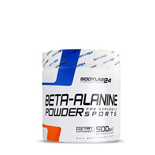 Bodylab24 Beta Alanin Pulver, hochwertige Sport Nutrition für Leistungssteigerung, Premium Qualität, 500 Gramm Dose