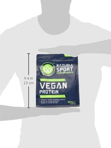NADURIA SPORT Vegan Protein-Shake Schoko (500 g) mit Erbsen-, Kürbiskern-, Sonnenblumen- und Reisprotein, inkl. Superfoods