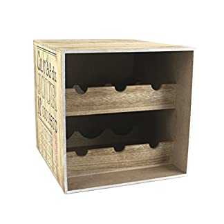 Totally-Addict-kv7210-Weinkeller-6-Flaschen-Holz-braunschwarz-30-x-335-x-30-cm