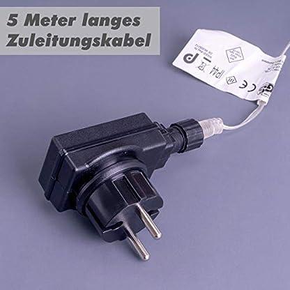 Nipach-GmbH-120-LED-Meteor-Stern-Leuchtfarbe-warm-wei–60-cm-fr-Innen-und-Auen-mit-Trafo-Timer-Weihnachtsstern-zum-Aufhngen-Weihnachtsdeko-Xmas